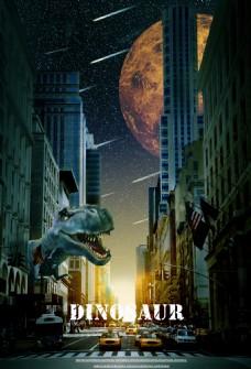 合成恐龙电影宣传海报