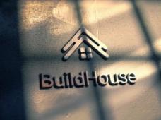 金属质感墙体金属字Logo智能样机