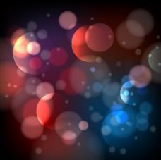 彩色渐变光圈背景矢量素材