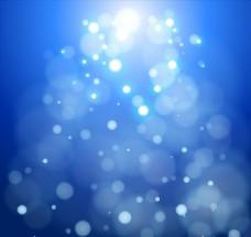 蓝色唯美梦幻光斑虚化背景