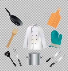 各种厨房用具免抠png透明图层素材