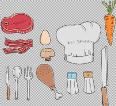 各种厨房厨具免抠png透明图层素材