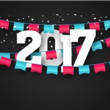 装饰花环新年背景