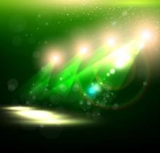 绿色展示扫描仪创意背景