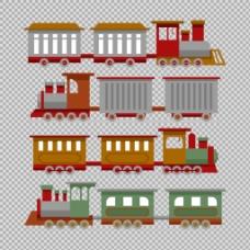 手绘复古火车插图免抠png透明图层素材
