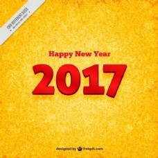金色新年背景与红色数字