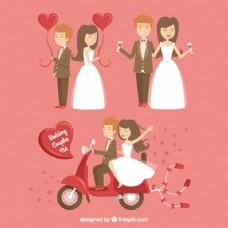 幸福的新婚夫妇