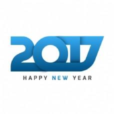 蓝色元素的新年背景