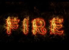 fire艺术字
