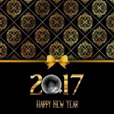 金色图案装饰新年背景