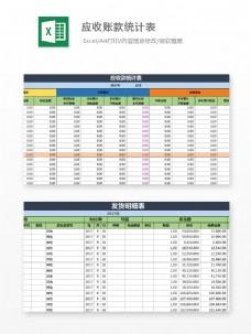 应收账款统计表Excel模板