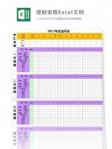 理财表格Excel图表