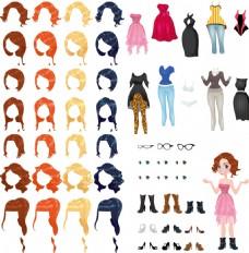 人物发型服装搭配设计