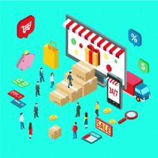 购物商场人物矢量EPS设计素材
