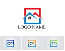 方形别墅房屋标志图片