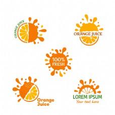 创意橙子图标