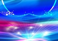 创意线条光线蓝色背景psd