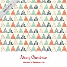 几何圣诞树背景
