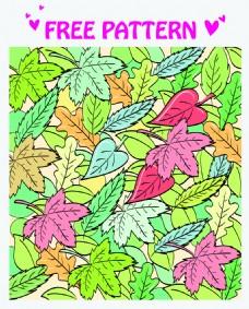 矢量抽象 树叶装饰图案