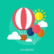热气球背景设计