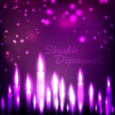 漂亮紫色蜡烛背景图