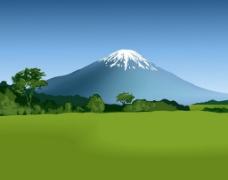 漂亮雪山背景图