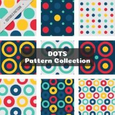 抽象圆点图案的集合