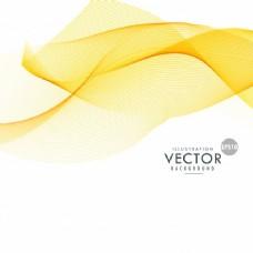 黄色的浮动形状背景