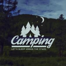 创意风景登山远足宣传海报背景