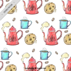 曲奇咖啡图案