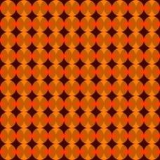 橙色背景重叠圆圈
