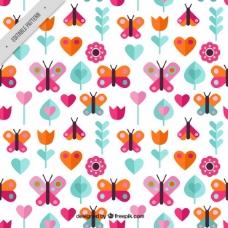 彩色蝴蝶图案