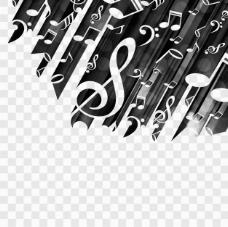 黑色背景音乐音符