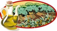 橄榄油背景素材