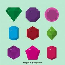 平板设计中的宝石组合