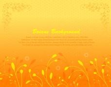黄色古典欧式图案