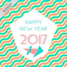 2017新年快乐的背景