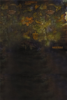 黑色油画H5背景