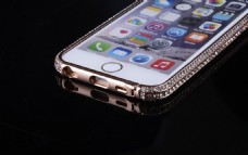 金属镶钻石手机边框