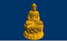 佛祖stl三维圆雕图