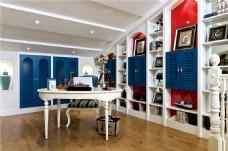 现代地中海风格书房装修效果图