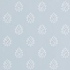 蓝色背景简约印花壁纸素材