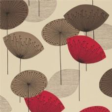 淡黄背景彩色莲蓬伞壁纸素材