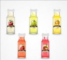 写实五种果汁插图