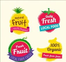 丰富多彩的水果贴纸