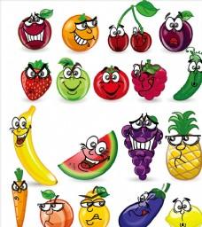 卡通水果表情幼儿园