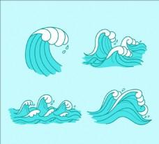 四款装饰海浪水纹