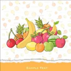 水果的背景设计