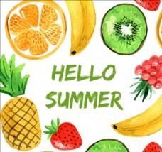 各种各样的夏季水果