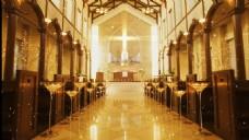 金色婚礼教堂视频